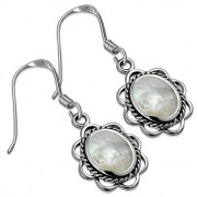 Mother of Pearl Silver Earrings, e362h