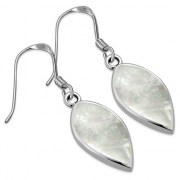 Mother of Pearl Silver Earrings, e386h