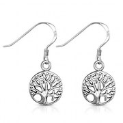 Tree of Life Sterling Silver Earrings - ep337