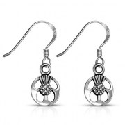 Scottish Thistle Sterling Silver Earrings - ep340