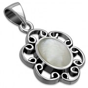 Mother of Pearl Silver Pendant, p599