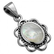 Mother of Pearl Silver Pendant, p626