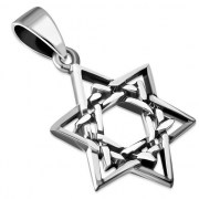 Sterling Silver Plain Star of David Pendant, pn32