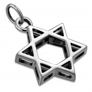 Small Plain Star of David Silver Pendant, pn292