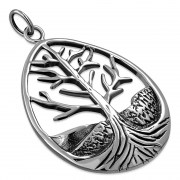 Ethnic Style Tree of Life Silver Pendant, pn327