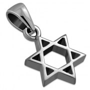 Tiny Plain Star of David Pendant, pn500