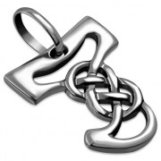 Celtic Silver Letters Charms, the Letter J, pn546
