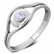 Evil Eye Sterling Silver Rainbow Moonstone Ring, r571