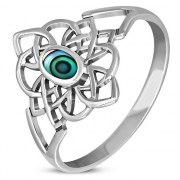 Abalone Celtic Knot Silver Ring - r594