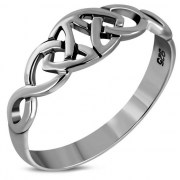 Plain Silver Trinity Knot Ring, rp835