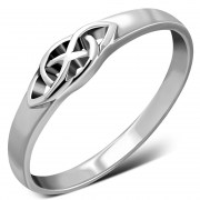 Plain Solid Sterling Silver Celtic Knot Ring, rp851