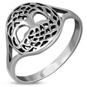 Tree of Life Celtic Knot Silver Ring, rp864