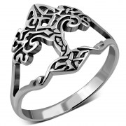 Tree of Life Celtic Knot Plain Silver Ring, rp865