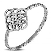 Twisted Shank Silver Celtic Ring - rp886