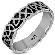Celtic Knot Mens Band Ring - rp892
