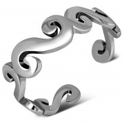 Spiral Style Silver Toe Ring, tr49