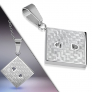 Stainless Steel Power Plug Charm Pendant - XXP355