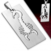 Stainless Steel 2-Part Cut-out Scorpion Zodiac Sign Tag Pendant - XXP959