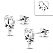 Stainless Steel Fancy Scissor Stud Earrings (pair) - ZEM308