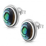 Abalone Oval Earrings - e368