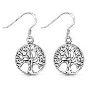 Celtic Tree of Life Silver Earrings, ep322