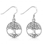Celtic Tree of Life Silver Earrings, ep321