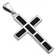 Black Onyx Silver Cross Pendant, p532