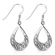 Round Celtic Knot Silver Earrings - ep331