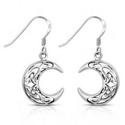 Crescent Celtic Knot Silver Earrings - ep332