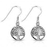 Tree of Life Sterling Silver Earrings, ep336