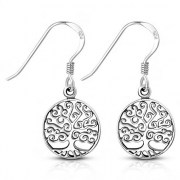 Tree of Life Sterling Silver Earrings, ep335
